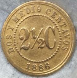 Monēta > 2½sentavo, 1886 - Kolumbija  - reverse