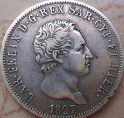 Moneta > 5lire, 1821-1831 - Sardegna  - obverse