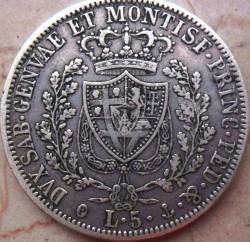 Moneta > 5lire, 1821-1831 - Sardegna  - reverse