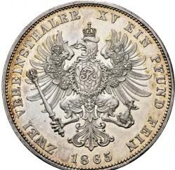 Moneda > 2vereinsthaler, 1865-1871 - Prusia  - reverse