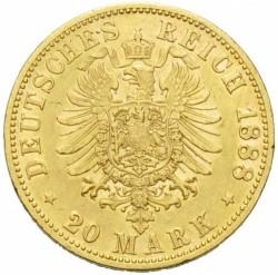 Moneda > 20marcos, 1888 - Alemán (Imperio)  (Federico III) - reverse