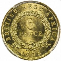 Moneda > 6pence, 1920-1936 - Àfrica Occidental Britànica  - reverse