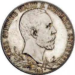 Moneda > 2marcos, 1905 - Alemán (Imperio)  (25º Aniversario - Proclamación de Charles Gonthier /borde grueso/) - obverse