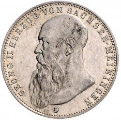 Moneda > 2marcos, 1902 - Alemán (Imperio)  (Barba larga) - obverse