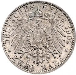 Moneda > 2marcos, 1902 - Alemán (Imperio)  (Barba larga) - reverse