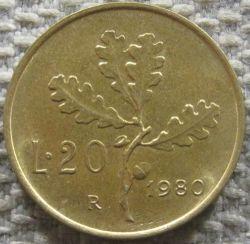 Moneta > 20lirów, 1968-2001 - Włochy  - obverse