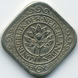 Кованица > 5центи, 1943 - Курасао  - obverse