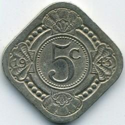 Кованица > 5центи, 1943 - Курасао  - reverse