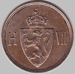 Moneda > 1ore, 1906-1907 - Noruega  - obverse