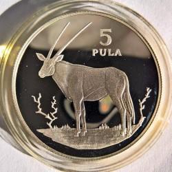 Moneta > 5pula, 1978 - Botswana  (Orice gazzella ) - reverse