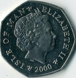 Moneda > 50peniques, 2000-2003 - Isla de Man  - obverse