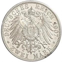 Moneda > 2marcos, 1902-1907 - Alemán (Imperio)  - reverse