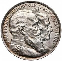 Moneda > 5marcos, 1906 - Alemán (Imperio)  (50º Aniversario - Boda de Federico I y Luisa de Prusia) - obverse