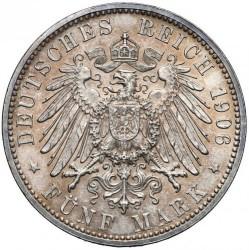 Moneda > 5marcos, 1906 - Alemán (Imperio)  (50º Aniversario - Boda de Federico I y Luisa de Prusia) - reverse