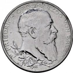 Moneda > 2marcos, 1902 - Alemán (Imperio)  (50º Aniversario - Reinado de Federico I) - obverse