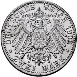 Moneda > 2marcos, 1902 - Alemán (Imperio)  (50º Aniversario - Reinado de Federico I) - reverse