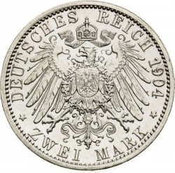 Coin > 2 mark, 1904 - German Empire  (400th Anniversary - Birth of Philip I) - reverse