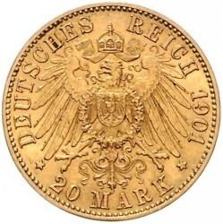 Moneta > 20marchi, 1896-1901 - Impero Tedesco  - reverse