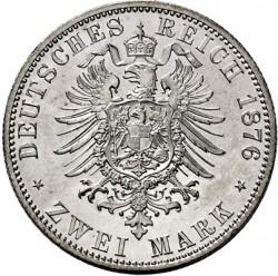 Moneta > 2marchi, 1876 - Impero Tedesco  - reverse