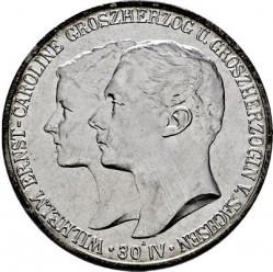 Moneda > 5marcos, 1903 - Alemán (Imperio)  (Boda de Guillermo y Carolina) - obverse