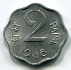 Mynt > 2paise, 1965-1967 - India  - obverse