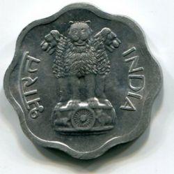 Mynt > 2paise, 1965-1967 - India  - reverse