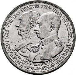 Moneda > 3marcos, 1915 - Alemán (Imperio)  (100º Aniversario - Gran Duque de Mecklenburg-Schwerin) - obverse