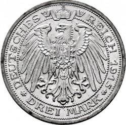 Moneda > 3marcos, 1915 - Alemán (Imperio)  (100º Aniversario - Gran Duque de Mecklenburg-Schwerin) - reverse