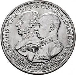 Moneda > 5marcos, 1915 - Alemán (Imperio)  (100º Aniversario - Gran Duque de Mecklenburg-Schwerin) - obverse