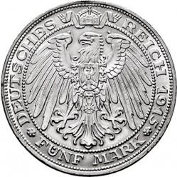 Moneda > 5marcos, 1915 - Alemán (Imperio)  (100º Aniversario - Gran Duque de Mecklenburg-Schwerin) - reverse