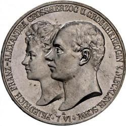 Moneda > 5marcos, 1904 - Alemán (Imperio)  (Boda del Duque Friedrich Franz IV) - obverse