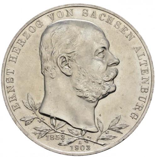 5 Mark 1903 Herrschaft Von Ernst I Deutsches Kaiserreich