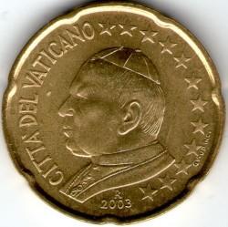 Mynt > 20eurocent, 2002-2005 - Vatikanstaten  - obverse
