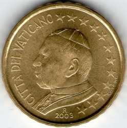 Monēta > 10eurocent, 2002-2005 - Vatikāns  - obverse