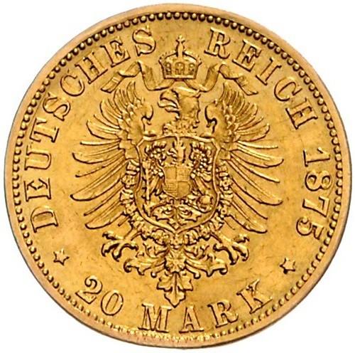 20 Mark 1875 Deutsches Kaiserreich Münzen Wert Ucoinnet