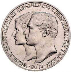 Moneda > 2marcos, 1903 - Alemán (Imperio)  (Boda de Guillermo y Carolina) - obverse