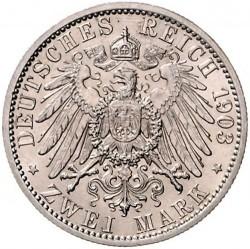 Moneda > 2marcos, 1903 - Alemán (Imperio)  (Boda de Guillermo y Carolina) - reverse