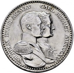 Moneda > 3marcos, 1915 - Alemán (Imperio)  (100º Aniversario - Gran Ducado) - obverse