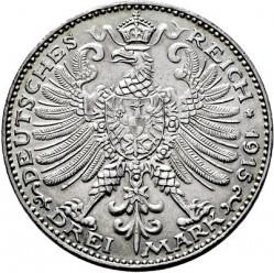 Moneda > 3marcos, 1915 - Alemán (Imperio)  (100º Aniversario - Gran Ducado) - reverse