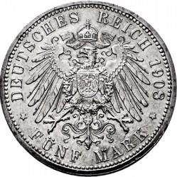 Moneda > 5marcos, 1908 - Alemán (Imperio)  (350º Aniversario - Universidad de Jena) - reverse