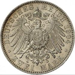 Moneda > 2marcos, 1904 - Alemán (Imperio)  (Muerte de Jorge de Sajonia) - reverse