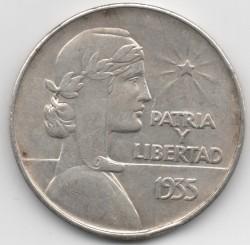 Moneda > 1peso, 1934-1939 - Cuba  - reverse