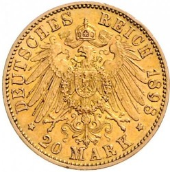 Moneta > 20marek, 1898-1904 - Cesarstwo Niemieckie  - reverse