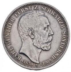 Moneda > 3marcos, 1909 - Alemán (Imperio)  (Muerte de Charles Gonthier) - obverse