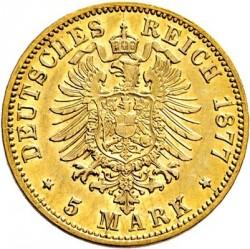 Moneda > 5marcos, 1877 - Alemán (Imperio)  (Luis III) - reverse