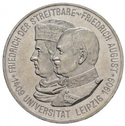Moneda > 5marcos, 1909 - Alemán (Imperio)  (500º Aniversario - Universidad de Leipzig) - obverse