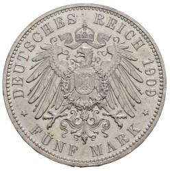 Moneda > 5marcos, 1909 - Alemán (Imperio)  (500º Aniversario - Universidad de Leipzig) - reverse