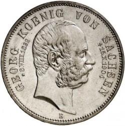 Moneda > 5marcos, 1904 - Alemán (Imperio)  (Muerte de Jorge de Sajonia) - obverse