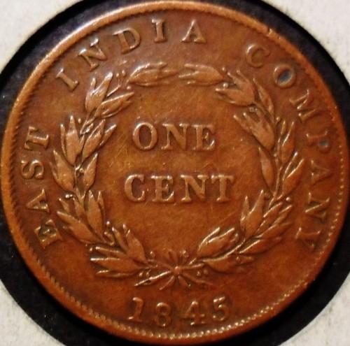 1 Cent 1845 Straits Settlements Coin Value Ucoin Net