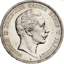 Moneda > 5marcos, 1888 - Alemán (Imperio)  (Guillermo II) - obverse